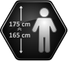 Height of the user 165-175cm