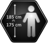 Height of the user 175-185 cm