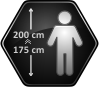 Height of the user 175-200 cm
